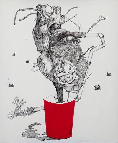Dabal Kim, 'Red Pot', 2012
