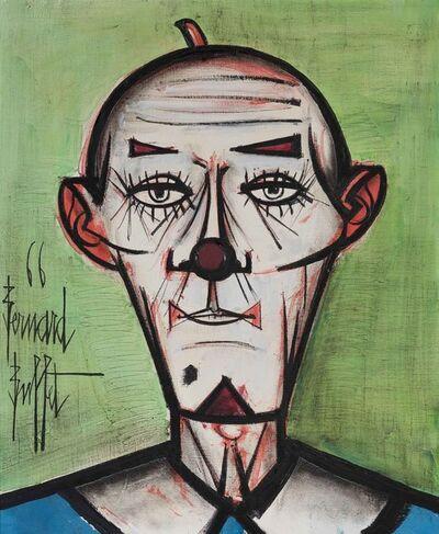 Bernard Buffet, 'Clown Chauve Fond Vert', 1966