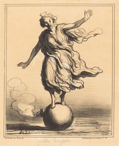 Honoré Daumier, 'Équilibre Européen', 1867