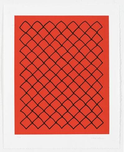 Mona Hatoum, 'Untitled (fence, red)', 2018