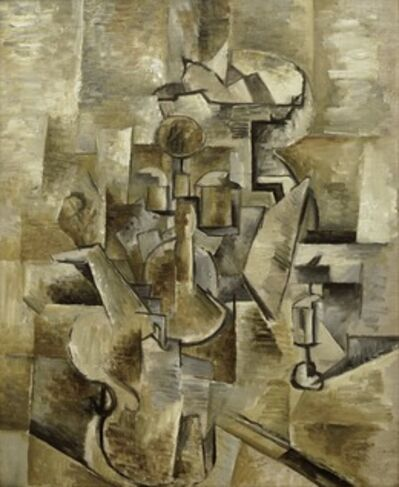Georges Braque, 'Violin and Candlestick', 1910