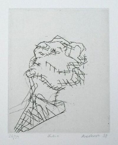 Frank Auerbach, 'Reclining Head of Julia', 1988