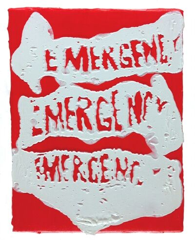Timothy Bergstrom, 'Three on red (emergency)', 2015