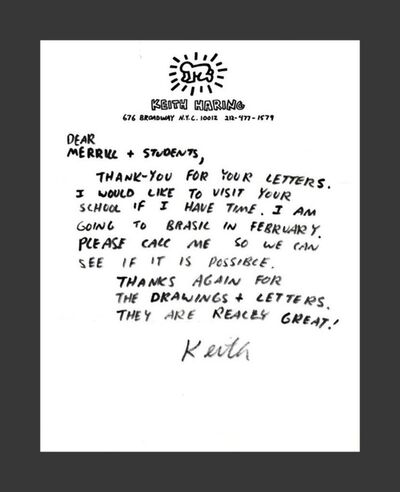 Keith Haring, 'Original handwritten letter', ca. 1987