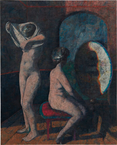 Armando Morales, 'Dos mujeres frente al espejo', 1982