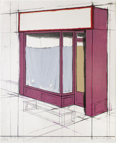 Christo, 'Pink Store Front Project', 1980