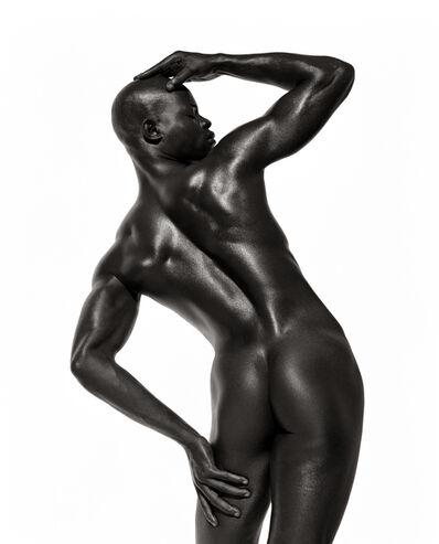 "Herb Ritts, '""Djimon Three Quarter Nude Back View""', ca. 1998"