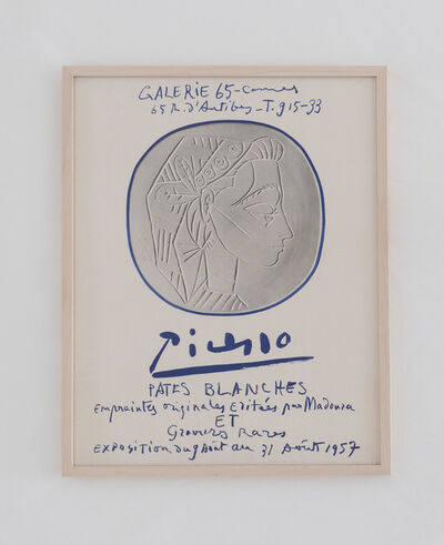 Pablo Picasso, 'Galerie 65 Cannes: Picasso - Pates Blanches ', 1957