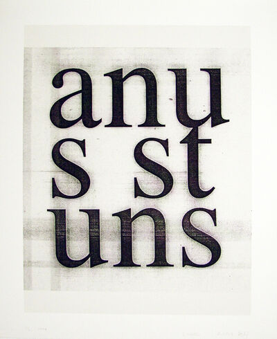 Christopher Wool, 'Anus Stuns', 2008