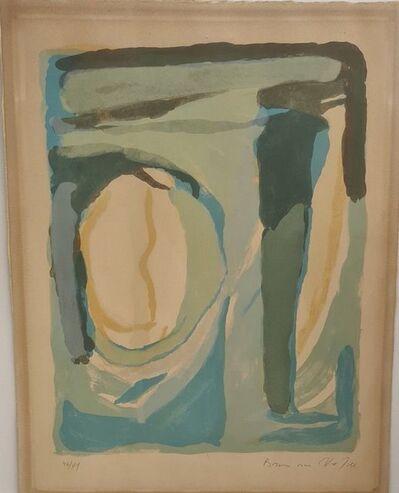 Bram van Velde, 'Composition in blue and green ', ca. 1970