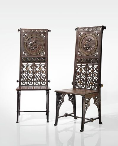 """Christopher Dresser, 'A Rare Pair of """"Boreas"""" Chairs', 1870"""