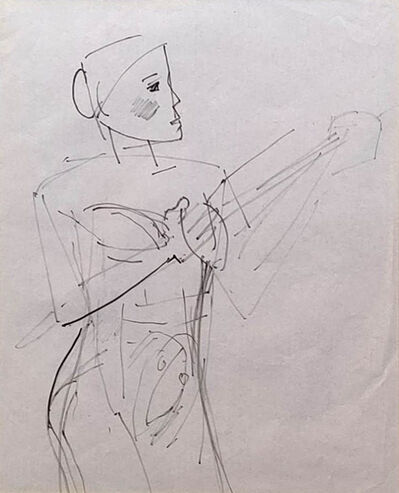 """Somnath Hore, 'Untitled, Figurative, Pen on Paper by Modern Indian Artist """"In Stock""""', 1980-2005"""
