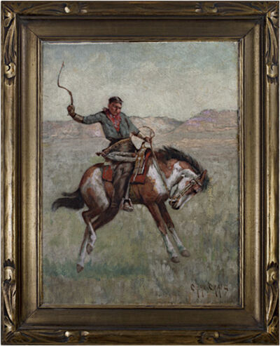 Charles Craig, 'Cowboy on Horseback (To be sold as pair Native American on Horseback)', ca. 1880s