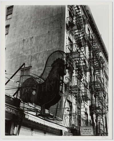 Berenice Abbott, 'Untitled (Live Poultry Sign)'