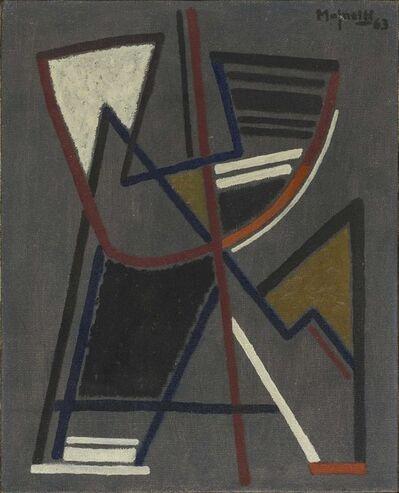 Alberto Magnelli, 'Sur fond gris n°7', 1963