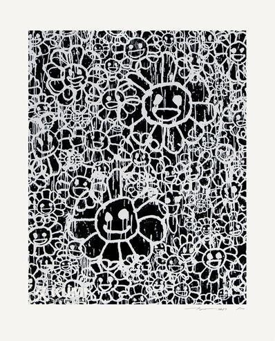 MADSAKI, 'Flowers Black A Silkscreen', 2018