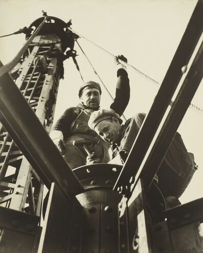 Lewis Wickes Hine, 'The McClain Brothers (On the Mooring Mast, Empire State Building)', circa 1930