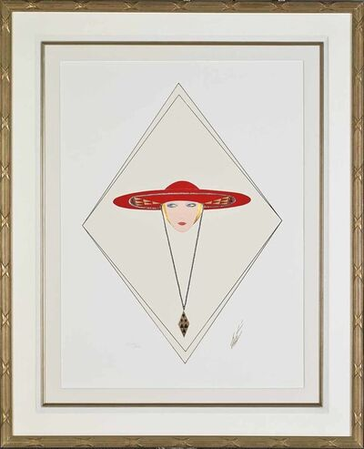Erté (Romain de Tirtoff), 'Red Hat', 1990