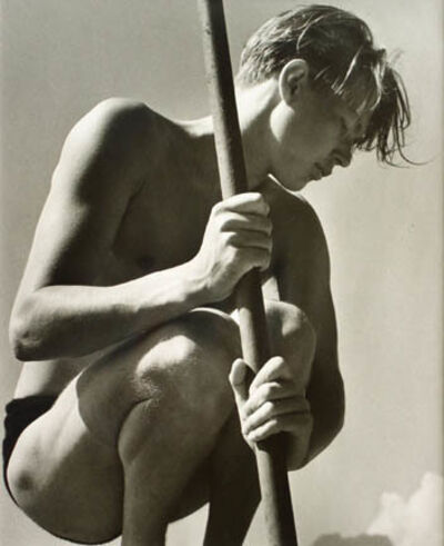 Herbert List, 'Ritti with Fishing Rod, Lake Lucerne, Switzerland', 1937