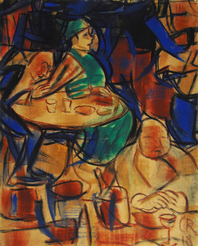 Christian Rohlfs, 'In the Cafe | Im Café', 1918