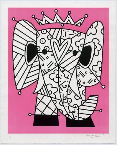 Romero Britto, 'The Pink Elephant', 2017