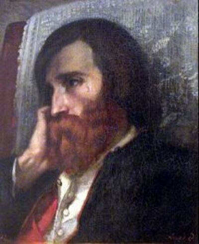 Gustave Courbet, 'Alfred Bruyas', 1854