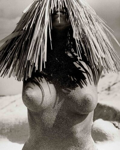 Herb Ritts, 'Woman in Straw Hat, Hawaii', 1988