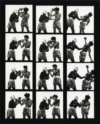 Michael Halsband, 'Andy Warhol & Jean-Michel Basquiat #121-#132 (contact sheet 11) New York City July 10, 1985', 1985