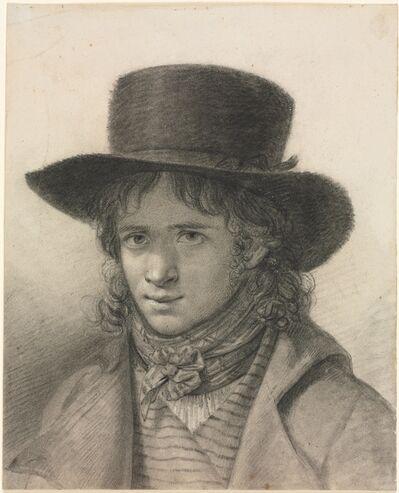 Anne-Louis Girodet-Trioson, 'Self-Portrait in a Hat', c. 1790