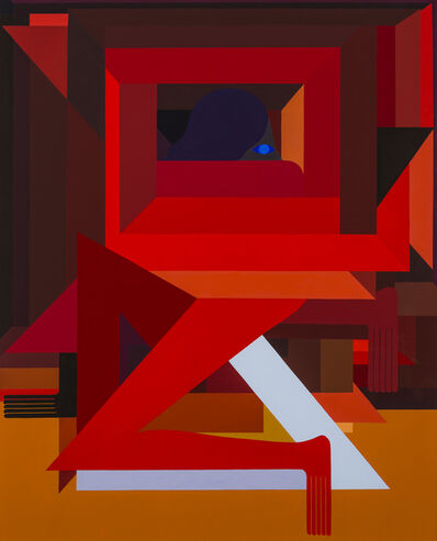 Richard Colman, 'Fortified Figure, (Red) Right Facing', 2018