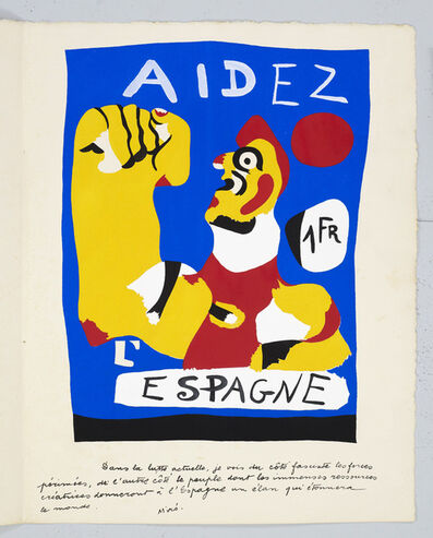 Joan Miró, 'Aidez L'Espagne (From Cahiers D'Art)', 1937
