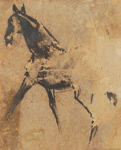 "Sunil Das, 'Horse III, Pastel on Sand Paper by Padma Shree Artist Sunil Das ""In Stock""', 1950"