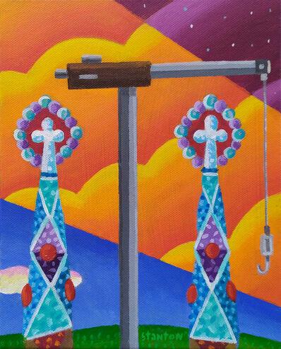 Philip Stanton, 'Sagrada Família's cranes', 2019