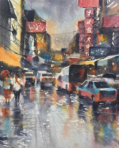 Attasit Pokpong, 'Walking in the Rain II', 2006