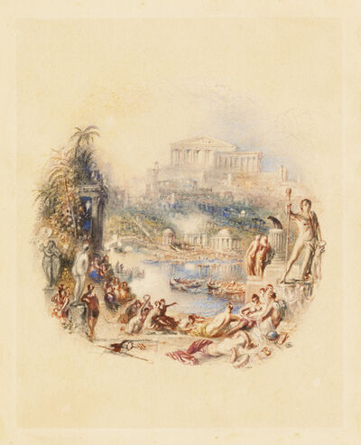 """J. M. W. Turner, 'The Garden: An Illustration to Thomas Moore's """"The Epicurean"""" ', 1837-1839"""