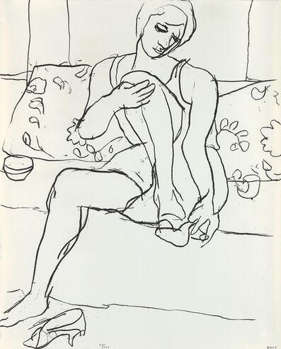 Richard Diebenkorn, 'Seated Woman on Sofa', 1965