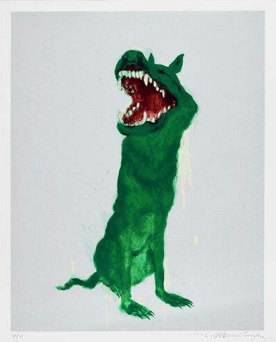 Zhou Chunya, 'Green Dog #2', Unknown