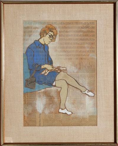Joseph Solman, 'Reading Lady - III', ca. 1960