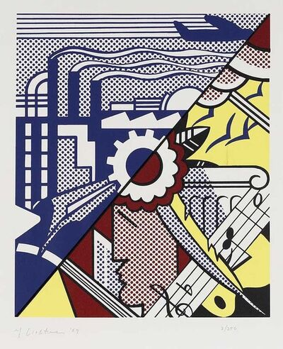 Roy Lichtenstein, 'INDUSTRY AND THE ARTS II (Corlett 86)', 1969