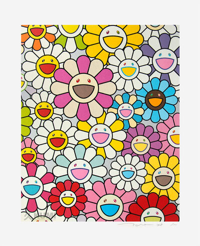 Takashi Murakami, 'A Little Flower Painting: Pink, Purple and Many Other Colors', 2018