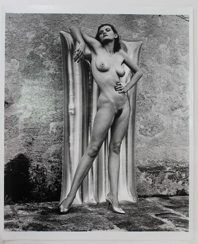 Helmut Newton, 'Nude with Plastic Matress', 1981