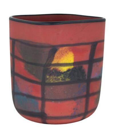 Ioan Nemtoi, 'Red Matte Square Vase', 2005