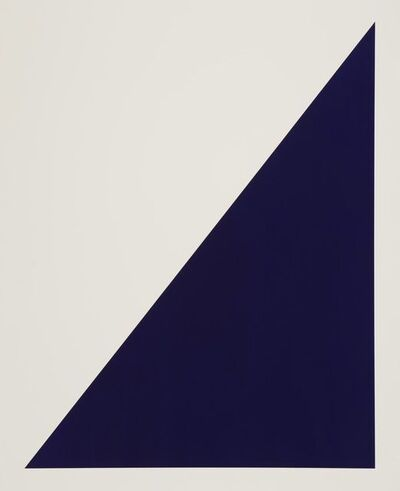 Rupert Deese, 'Rivers-and-Mountains / 6 blue triangle', 2018