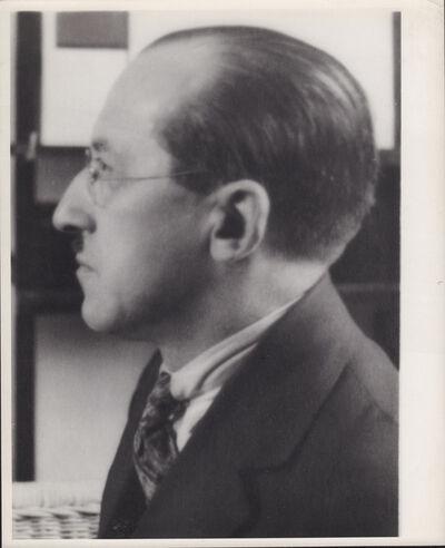 André Kertész, 'Piet Mondrian, New York', 1926