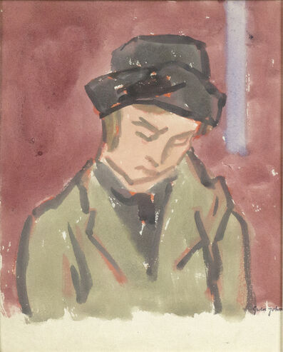Gwen John, 'Woman in Green Coat and Black Hat', Probably executed during the 1920s
