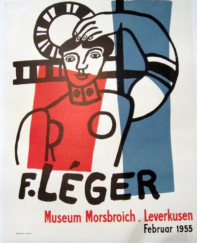 Fernand Léger, 'F. Leger, Museum Morsbroich, Leverkusen, Februar 1955 Original Poster', 1955