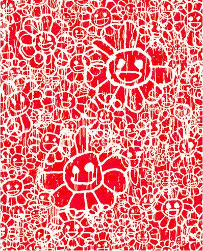 Takashi Murakami, 'Madsaki Flowers A Red', 2017