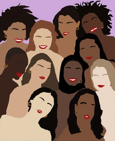 Samantha Viotty, 'From the Lips and Hoops Collection - Digital Illustration of Women - Multicultural - Feminism', 2019