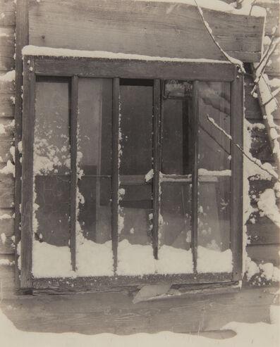 Alfred Stieglitz, 'Window: Wood, Glass, Snow', 1923
