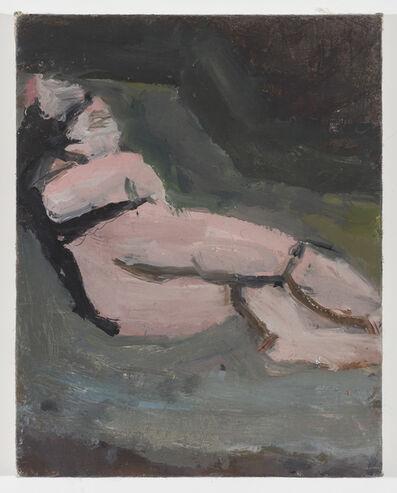 Janice Nowinski, 'Reclining Nude with Black Hair', 2017